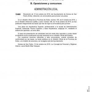 PLAZA DE ARQUITECTO SUPERIOR