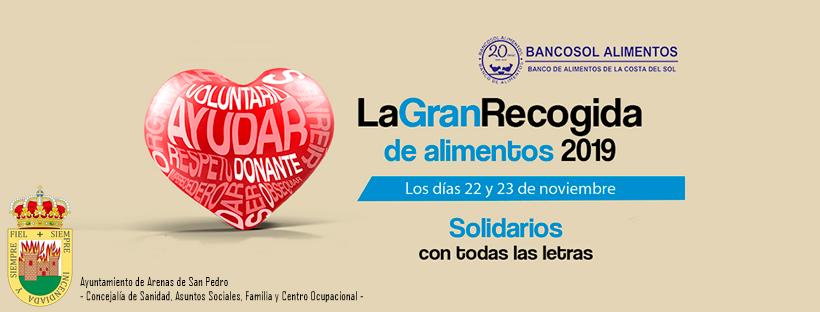 GRAN RECOGIDA SOLIDARIA DE ALIMENTOS 2019