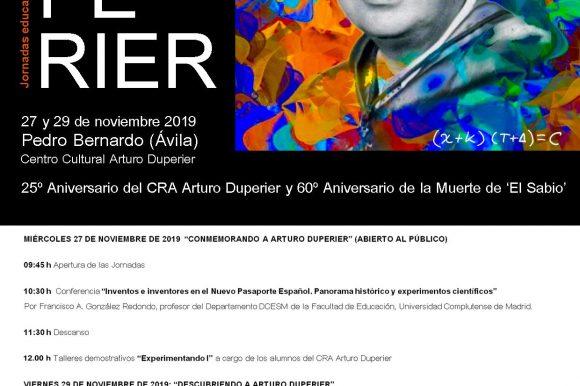 🧬JORNADAS EDUCATIVAS EN EL CRA ARTURO DUPERIER «TRAS LA ESTELA DE ARTURO DUPERIER»🧬