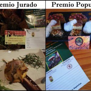 HOSTELEROS GANADORES DE LA XII RUTA DE LA TAPA MICOLÓGICA DE ARENAS DE SAN PEDRO