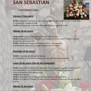 FIESTAS PATRONALES EN HONOR A SAN SEBASTIÁN DE HONTANARES