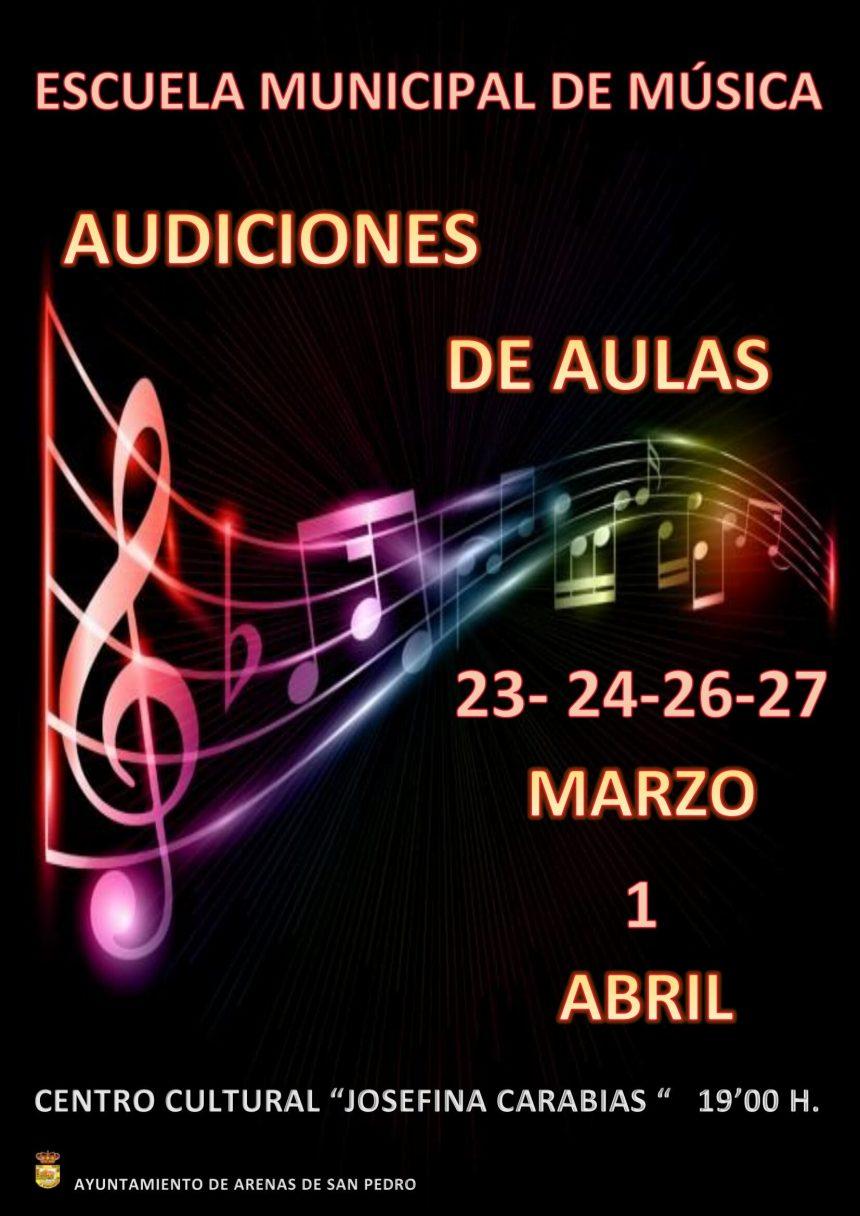 🎼AUDICIONES DE AULAS DE LA ESCUELA MUNICIPAL DE MÚSICA «LUIGI BOCCHERINI» DE ARENAS DE SAN PEDRO🎼