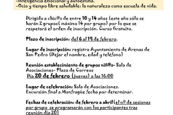 VI EDICIÓN DEL PROGRAMA NEXUS 2020 ARENAS DE SAN PEDRO