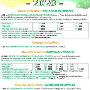 🤠👩🚀🧙♂️🤹♀️ EL AYUNTAMIENTO DE ARENAS DE SAN PEDRO AUMENTA 850€ LOS PREMIOS QUE SE OTORGARÁN EN LOS CARNAVALES 2020, PASANDO DE 4.175 A 5.025€ 🤠👩🚀🧙♂️🤹♀️