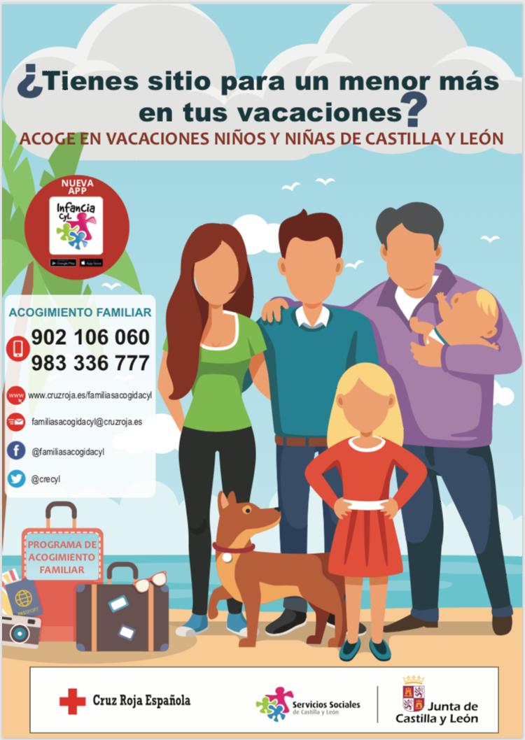 👨🦰👩  ¿TIENES SITIO PARA UN MENOR MÁS EN VACACIONES? 👧👦 Acoge en vacaciones niños y niñas de Castilla y León