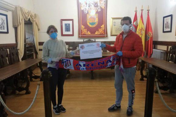 DONACIÓN DE 500€ DE LA PEÑA ATLÉTICA ARENAS VALDEOLIVAS