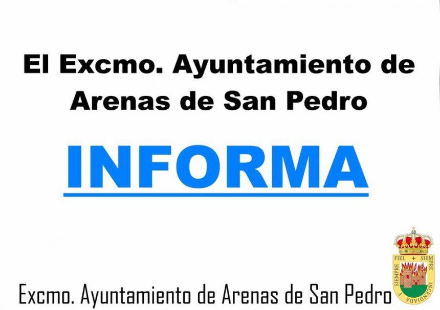 ℹ️ PCR POSITIVOS EN LOS ÚLTIMOS 7/14 DÍAS EN LA ZONA BÁSICA DE SALUD DE ARENAS DE SAN PEDRO ℹ️
