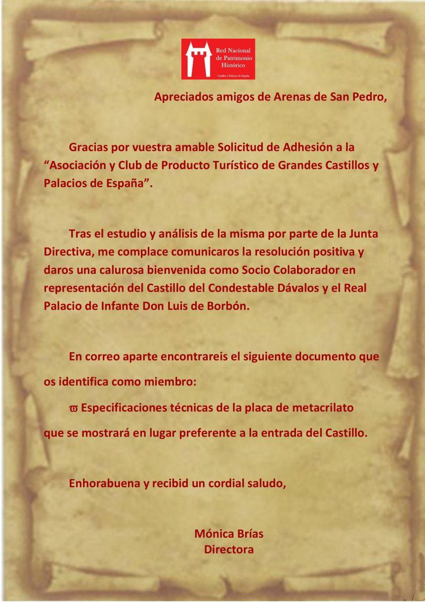 ARENAS DE SAN PEDRO DENTRO DE LA RED NACIONAL DE PATRIMONIO HISTÓRICO