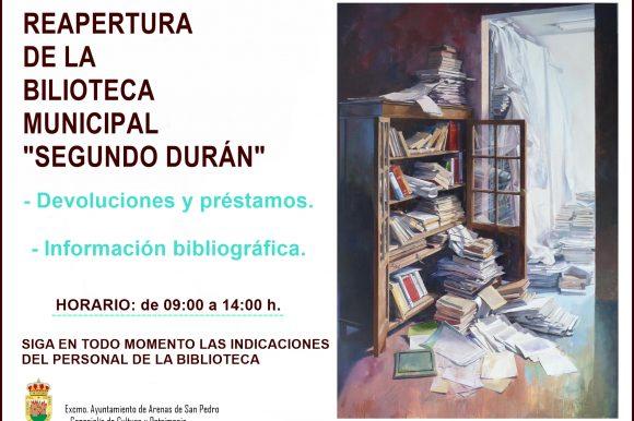 📚 REAPERTURA DE LA BIBLIOTECA MUNICIPAL «SEGUNDO DURÁN» 📖
