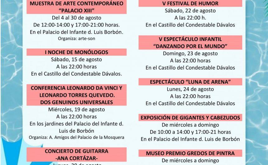 🎭 VERANO CULTURAL 2020 DE ARENAS DE SAN PEDRO 🎭