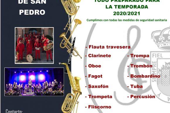🎼 ¿Quieres formas parte de la Banda Municipal de Música de Arenas de San Pedro?
