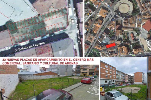 ARENAS DE SAN PEDRO CONTARÁ CON 32 NUEVAS PLAZAS DE APARCAMIENTOS EN EL CENTRO MÁS COMERCIAL, SANITARIO Y CULTURAL DE ARENAS DE SAN PEDRO